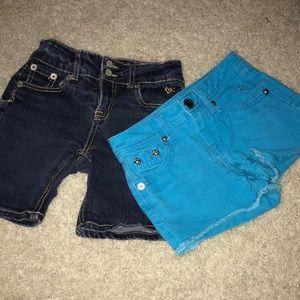 Justice jean shorts bundle